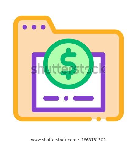 dolar · işareti · vektör · ikon · dizayn · finanse · dijital - stok fotoğraf © pikepicture