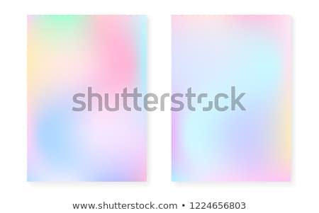 Gradient szablon zestaw streszczenie projektu Zdjęcia stock © cienpies