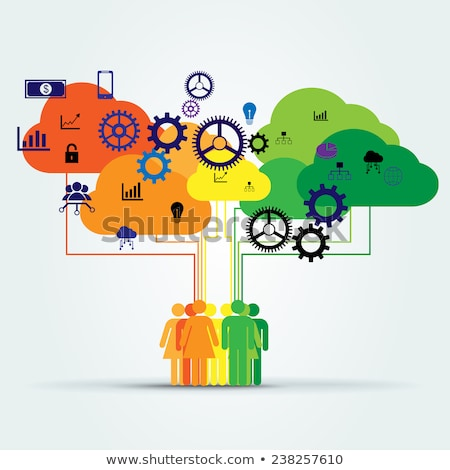 Workers Collaboration, Company Innovation Vector Stock photo © robuart