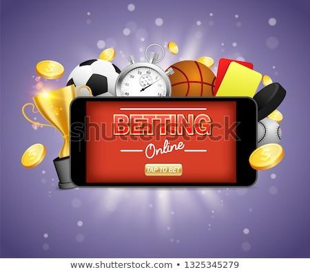 Kosárlabda labda fogadás hazárdjáték ikon vektor Stock fotó © pikepicture