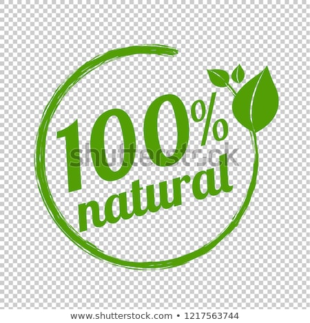 Natural Product with 100 % Guarantee Isolated Logo Stock photo © robuart