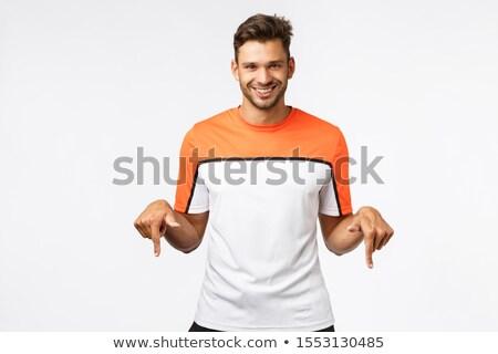 Przystojny męski hiszpańskie sportowiec sportowe tshirt Zdjęcia stock © benzoix