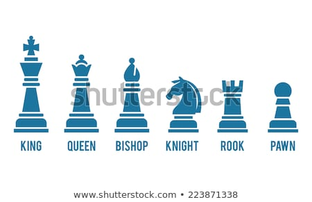 Row Of Chess Pieces On Board Stock photo © AndreyPopov