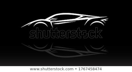 Car silhouette logo Stock photo © barsrsind