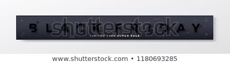 black friday stylish banner design stock photo © sarts