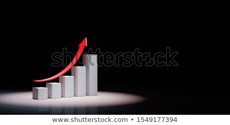 Growing Bar Chart Spotlighted on Black Background Stock photo © make