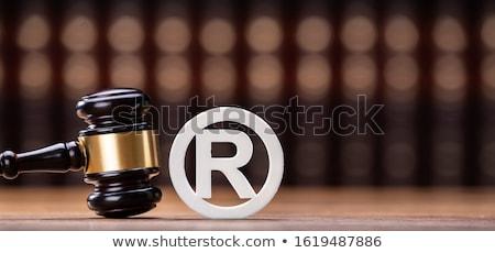 商標 シンボル クローズアップ 裁判官 著作権 図書 ストックフォト © AndreyPopov