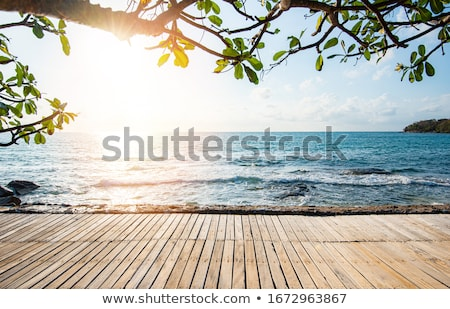 Seaside beach view at resort. Relaxing summer holiday landscape. Stock photo © Terriana