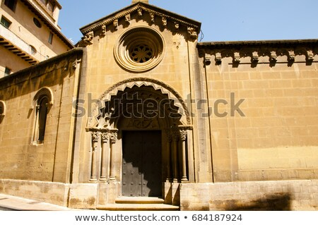 Abdij Spanje klooster oude binnenstad hemel gebouw Stockfoto © borisb17