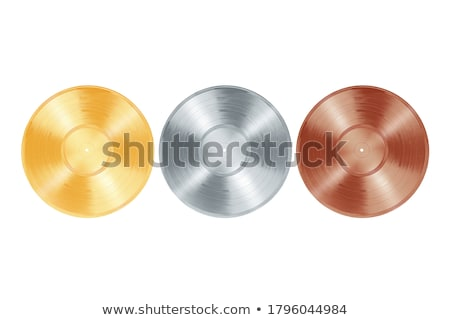 Collection of various color vinyl records isolated on white background Stock photo © Taigi
