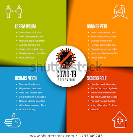 Flyer infographic template with coronavirus spread information Stock photo © orson