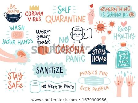 coronavirus pandemic covid-19 lockdown concept background design Stock photo © SArts