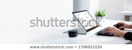 Boekhouder factuur software elektronische Bill man Stockfoto © AndreyPopov