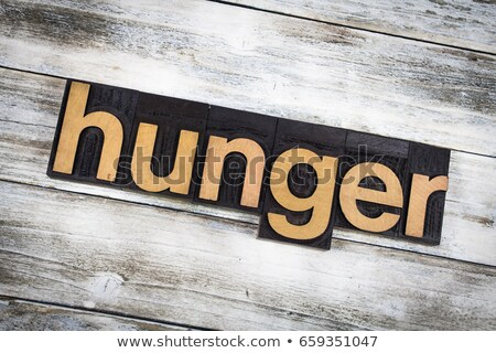 голод Vintage тип слово Сток-фото © enterlinedesign