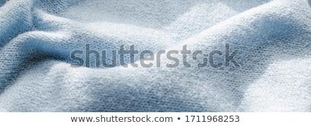 Premia niebieski tkaniny tekstury dekoracyjny włókienniczych Zdjęcia stock © Anneleven