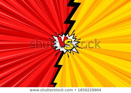 Kırmızı siyah yarım ton vs afiş dizayn Stok fotoğraf © SArts
