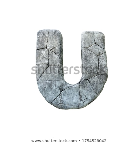 Letter U carved from stone Stock photo © ayaxmr