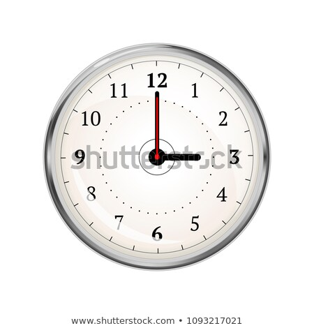 Realistic clock face showing 03-00 on white Stock photo © evgeny89