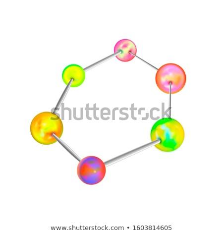 複雑な 化学構造 アトミック 六角形 白 ストックフォト © evgeny89
