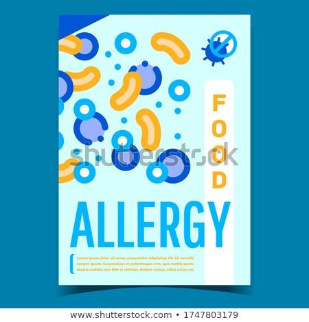 étel allergia kreatív promóciós szalag vektor Stock fotó © pikepicture