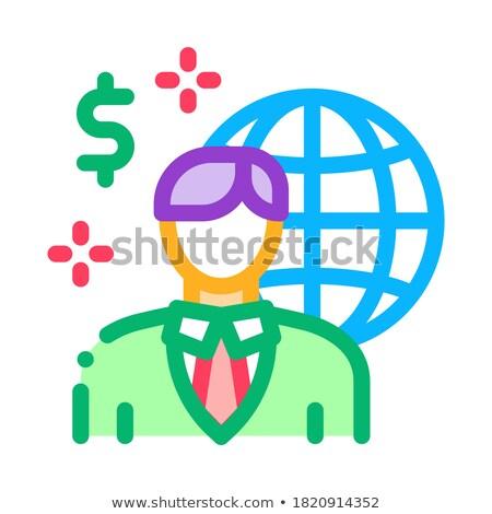 Global profesión representante corredor de bienes raíces icono vector Foto stock © pikepicture