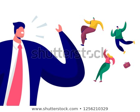 Angry Boss Fires Male Employee, Dismissal Vector Stock photo © robuart