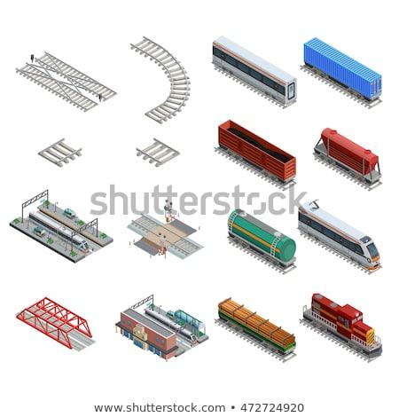 Public Transport Train isometric icon vector illustration Stock photo © pikepicture
