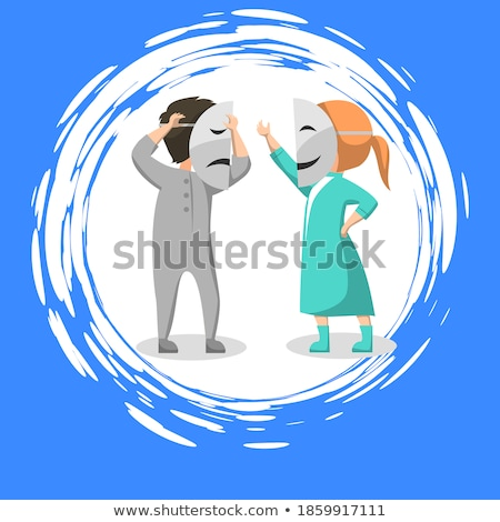 Kid Acting Role on Stage with Mask in Drama Club Stock photo © robuart
