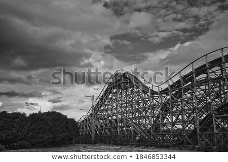 Bewolkt kustvaarder blauwe hemel hemel abstract Blauw Stockfoto © sahua