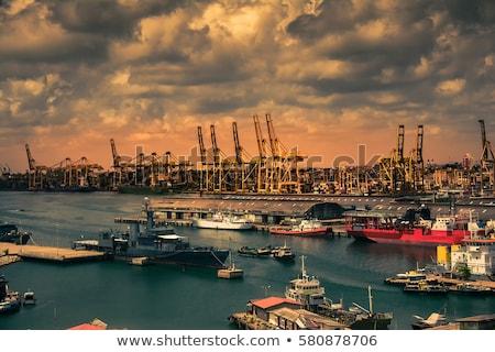 Kikötő kilátás Sri Lanka épület város utazás Stock fotó © joyr