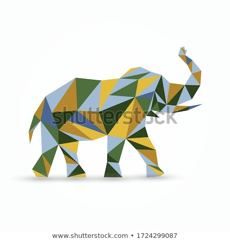 colorful abstract animal icons stock photo © cidepix