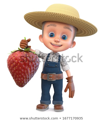 3d small people   cowboy stock photo © anatolym
