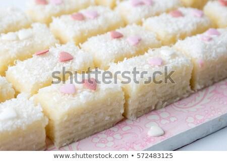 кокосового конфеты традиционный полосатый вечеринка белый Сток-фото © Mcklog