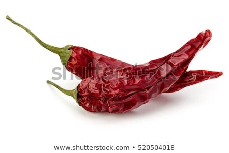 Kurutulmuş kırmızı biber beyaz sebze pişirme Stok fotoğraf © ruigsantos