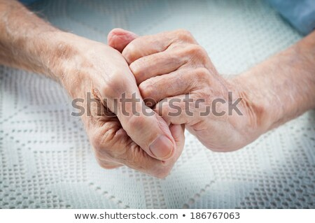 Elderly Male hand with Rheumatoid Arthritis Stock photo © 808isgreat