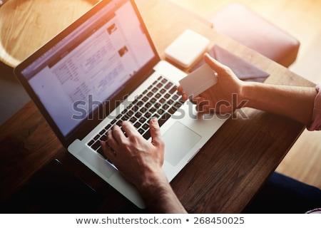Zakenman vergadering computer creditcard Stockfoto © Edbockstock