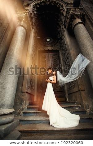 portré · menyasszony · vőlegény · áll · szeretet · férfi - stock fotó © vichie81