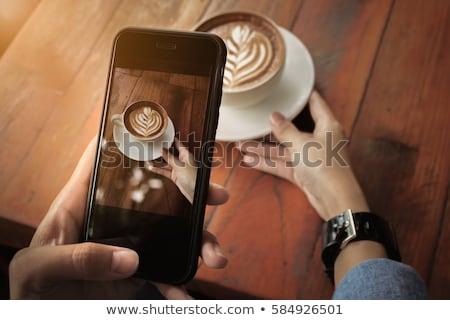 写真 コーヒー 映画 芸術 スペース ドリンク ストックフォト © Archipoch