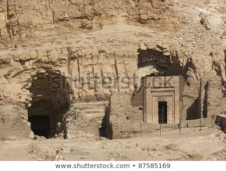 Rock Cut Tombs In Egypt Photo stock © PRILL