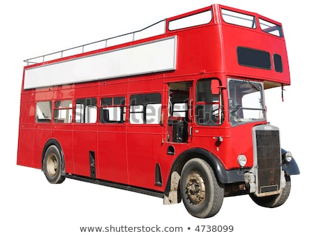 an old red london double decker sightseeing open top bus stock photo © latent