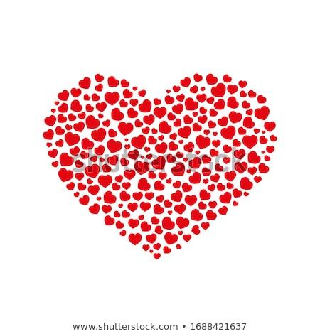 vector big heart made from smaller hearts stock photo © orson
