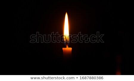 kaars · brandend · duisternis · zwarte · rouw · licht - stockfoto © marylooo
