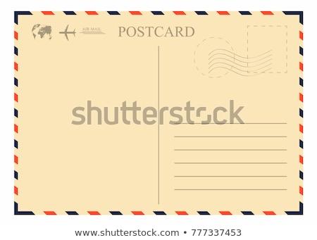 Vintage cartão postal pronto texto retro escrever Foto stock © Pakhnyushchyy