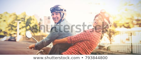 Urban couple on a moped Stock photo © photography33