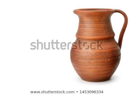 készít · porcelán · váza · agyag · szépség · művészet - stock fotó © mahout
