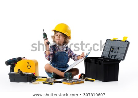 boy with power drill stock photo © lovleah