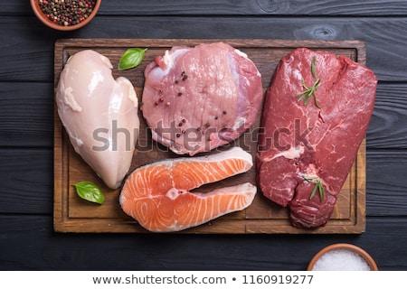sliced raw meat stock photo © boroda