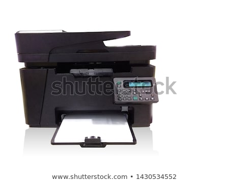 Modern digital printer on the white background stock photo © ozaiachin
