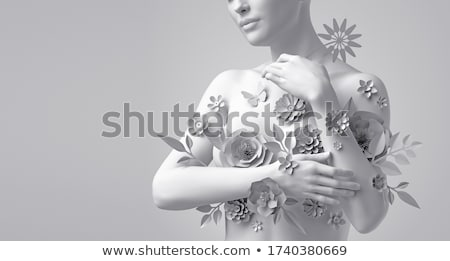 naakt · borst · portret · mooie · vrouw · mode - stockfoto © nobilior