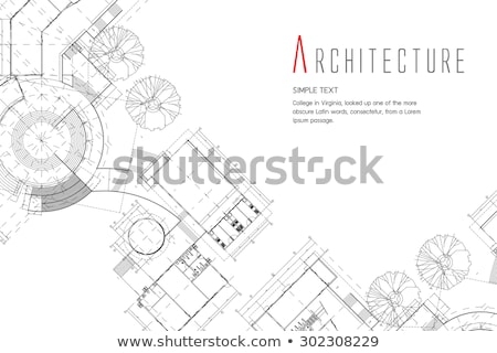 measure and architectural plan Stock photo © broker